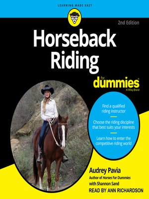 cover image of Horseback Riding For Dummies