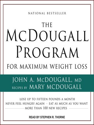 cover image of The McDougall Program for Maximum Weight Loss