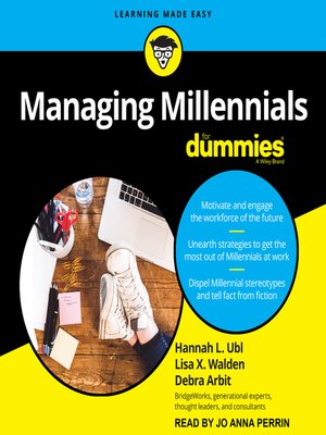 cover image of Managing Millennials for Dummies