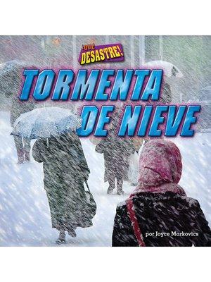 cover image of Tormenta de nieve (Blizzard)