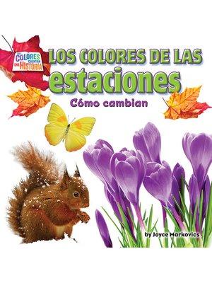 cover image of Los coloresde las estaciones
