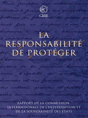 cover image of La responsabilité de protéger