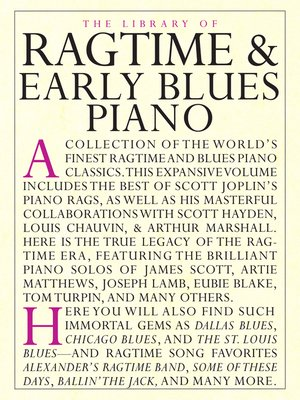 cover image of Library of Ragtime & Early Blues Piano