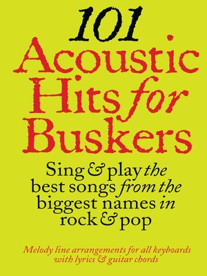 cover image of 101 Acoustic Hits For Buskers