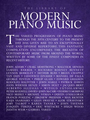cover image of The Library of Modern Piano Music