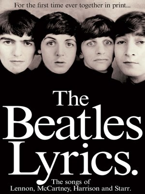 cover image of The Beatles Lyrics