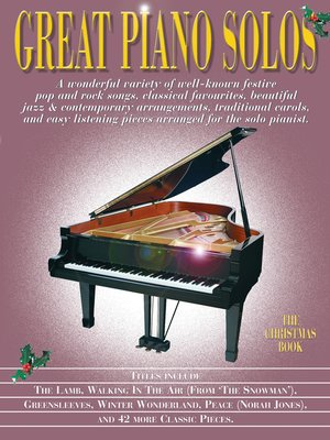 cover image of Great Piano Solos: The Christmas Book