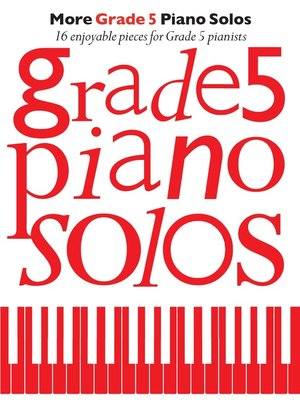 cover image of More Grade 5 Piano Solos