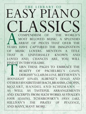 cover image of The Library of Easy Piano Classics