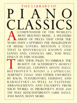 cover image of The Library of Piano Classics