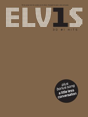 cover image of Elvis: 30 #1 Hits