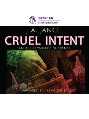 cover image of Cruel Intent
