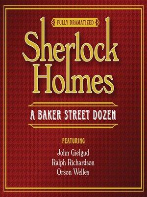 cover image of Sherlock Holmes--A Baker Street Dozen
