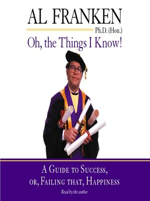 cover image of Oh, the Things I Know!