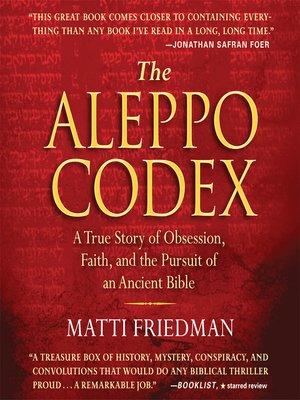 cover image of The Aleppo Codex