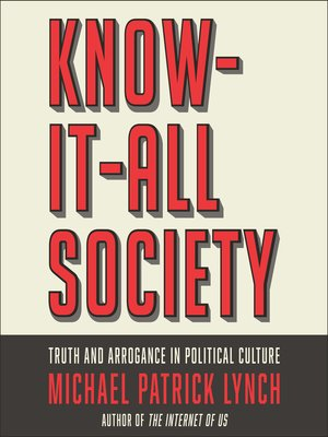 cover image of Know-It-All Society