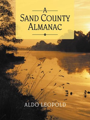 cover image of A Sand County Almanac