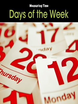 cover image of Days of the Week