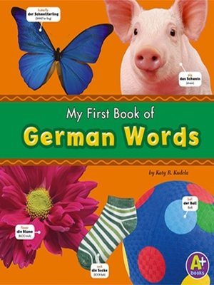 cover image of My First Book of German Words