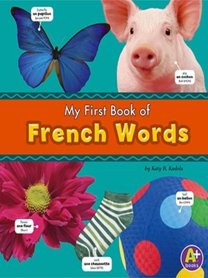 cover image of My First Book of French Words