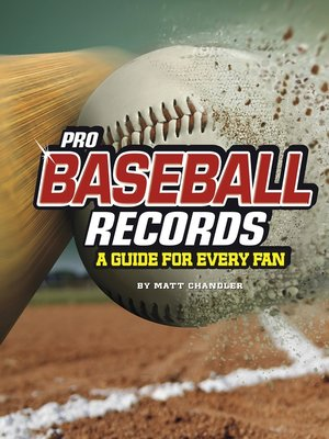 cover image of Pro Baseball Records