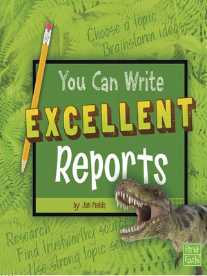 cover image of You Can Write Excellent Reports