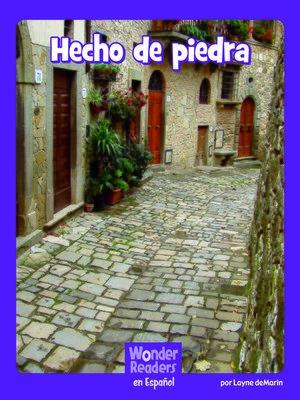 cover image of Hecho de piedra