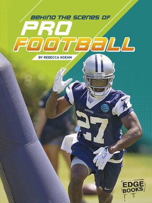 cover image of Behind the Scenes of Pro Football