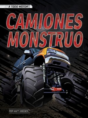 cover image of Camiones monstruo