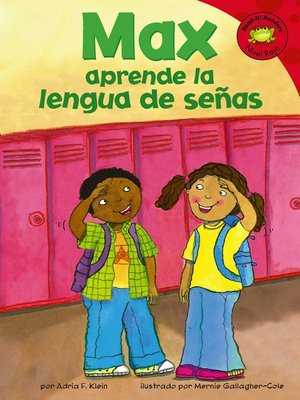 cover image of Max aprende la lengua de senas