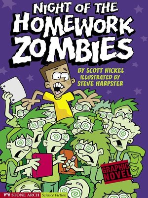 cover image of Night of the Homework Zombies