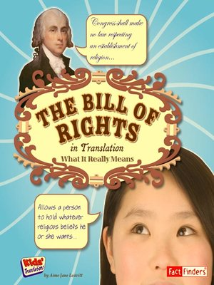 cover image of The Bill of Rights in Translation