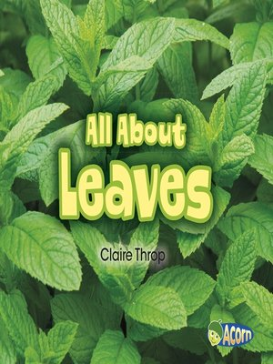 cover image of All About Leaves