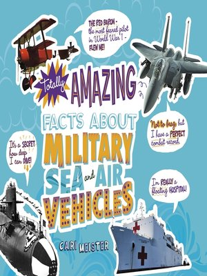 cover image of Totally Amazing Facts About Military Sea and Air Vehicles