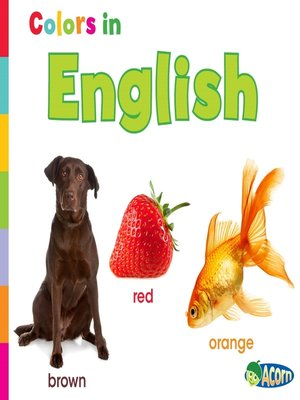 cover image of Colors in English