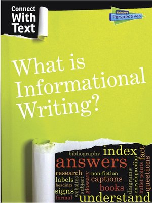 cover image of What is Informational Writing?