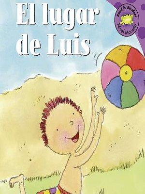 cover image of El lugar de Luis