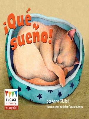 cover image of ¡Qué sueño!