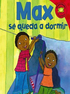 cover image of Max se queda a dormir