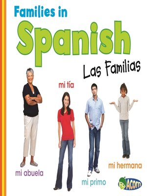 cover image of Families in Spanish