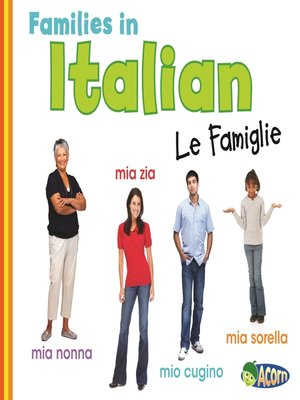cover image of Families in Italian