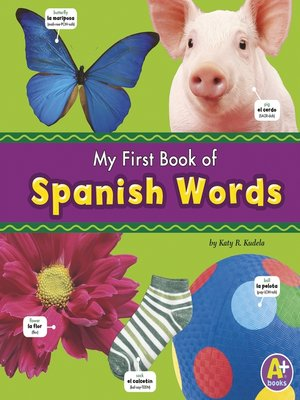 cover image of My First Book of Spanish Words