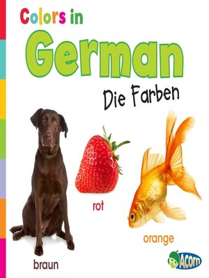 cover image of Colors in German