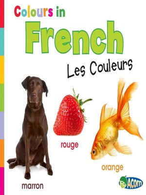 cover image of Colors in French