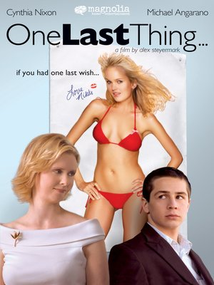 cover image of One Last Thing