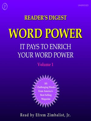 cover image of Reader's Digest Word Power, Volume 1