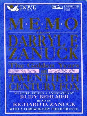 cover image of Memo From Darryl F. Zanuck