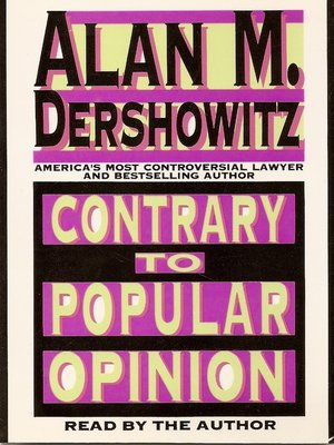 cover image of Contrary to Popular Opinion