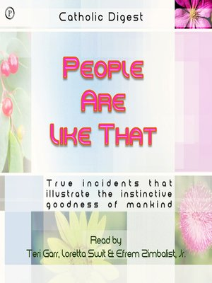 cover image of People Are Like That