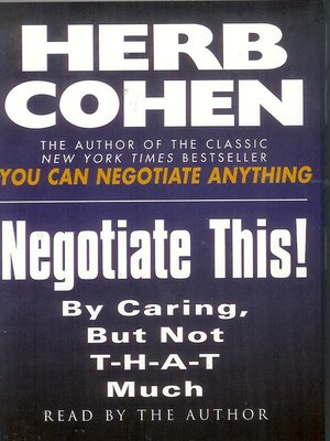 you can negotiate anything ebook
